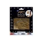 Метални листи ART Deco, 140 х 140 mm, 25л, злато
