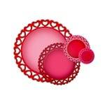 """Метални шаблони за изрязване на хартия """"Nestabilities"""", кръг със сърчица, ~ ф2,7 – 10,2см."""