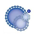 """Метални шаблони за изрязване на хартия """"Picot Edge Circles"""", ~ ф 1,5 - 10,3 cm,"""