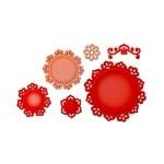 """Метални шаблони за изрязване на хартия """"Shapeabilities"""", Floral Doily Motifs - 4 –  10,7см."""