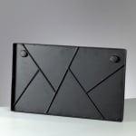Метално правоъгълно пано Mosaix, 50 x 30 cm, черно