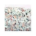 Мозаечни плочки GoldLine, стъкло, 10x20x4 mm, 725 бр., бели