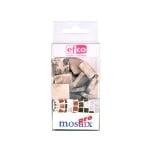 Мозаечни плочки MosaixPur, 20x20x4 mm, 45 бр., тъмно кафяви/бели