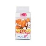 Мозаечни плочки MosaixSoft, стъкло, 25x5 mm, 140 бр., оранжеви