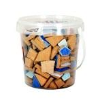 Мозаечни плочки парченца Mosaix Ceramic, 20 - 60 mm, 1 kg, сини