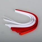 Набор ленти за празнични звезди, 130 g/m2, 1 x 30 cm, 80 л., бели/ червени