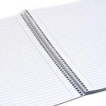 Тетрадка Notte Arc, A4, спирала, PP корица, 120 л., ред, 60 g/m2