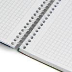 Бележник Notte Active, A6, спирала, PP корица, 150 л., квадрат, 60 g/m2