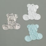 Пайети, Baby Barchen, 20 mm, 500 бр., светлосини, сребристи, бели