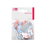 Пайети, Babymix, 25 - 45 mm, ~ 150 бр., розови, бели и сребристи