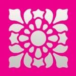 Пънч квадратен, Флорална мозайка, ~ 22 x 22 mm