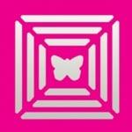 Пънч квадратен с тройна рамка, Пеперуда, ~ 22 x 22 mm