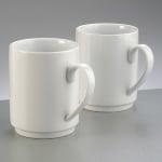 Порцеланови чаши комплект, ф 8 x H 10 cm, 310 ml / 2