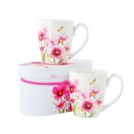 Комплект порцеланови чаши Flowers & Dragonfly, 2 бр.