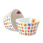 Комплект порцеланови купички Hearts & Flowers