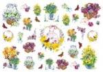 Декупажна тишу хартия, CESTINI FLORAL, 35 x 50 cm