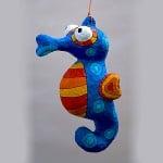 Рамка - риба от папиемаше, 14,5 x 9,5 x 2 cm