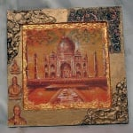 Рамка за картина от папие маше, квадрат, 11,5 x 11,5 / 20 x 20 x 2 cm,