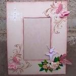 Рамка за снимка от картон, 26,5x26,5x2/ 16,5x16,5x1,8cm