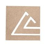 Декоративна фигура RicoDesign, ПИРАМИДА В КВАДРАТ, MDF, 7.5/7.5/0.5 cm