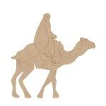 Декоративна фигура RicoDesign, КАМИЛА С ЕЗДАЧ, MDF, 13.5/13/0.5 cm