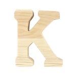 """Буква декоративна RicoDesign, """"K"""", натурално дърво, 8 cm"""