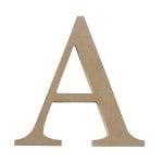 """Декоративен символ RicoDesign, """"A"""", MDF, 32/31 mm"""