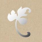 Декоративна фигура RicoDesign, ДЕСЕН ЛИСТ, SILVER, 6.5/8.5 cm
