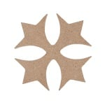 Декоративна фигура RicoDesign, ОРНАМЕНТ 4, MDF, 5.5/5.5 CM