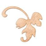Декоративна фигура RicoDesign, ЛИСТО ДЯСНО, MDF, 6.5/8.5 cm