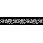 Лента самозалепяща RicoDesign, ROMANCE BLACK, 48 mm x 20 m