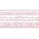 Лента самозалепяща бордюрна RicoDesign, PINK BIRTHDAY, 4 ролки x 1 m