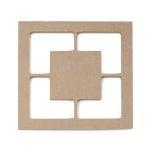 Декоративна фигура RicoDesign, ДВОЕН КВАДРАТ, MDF, 7.5/7.5/0.5 cm