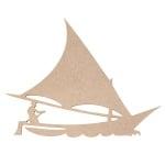 Декоративна фигура RicoDesign, ЛОДКА. MDF, 6/8/0.5 cm