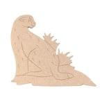 Декоративна фигура RicoDesign, ЛЕОПАРД, MDF, 11.5/13.5/0.5 cm