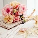 Роза, Dior rose, ø 15 mm, сребърна