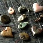 Сапунен камък за изработка на амулет с отвор, 5 cm, кафяв