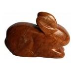 Сапунен камък за изработка на амулет във формата на сърце с отвор, кафяв