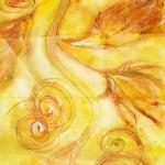 Шифонен шал от естествена коприна, Chiffon, 55 x 180 mm, тъмносин