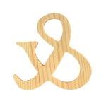 """Символ декоративен RicoDesign, """"&"""", натурално дърво, 8 cm"""