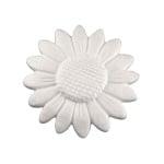 Слънчоглед от стиропор, бял, ф 300 mm