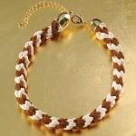 Сплетен шнур, сатен, 2 mm / 6 m, бял