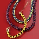 Сплетен шнур, сатен, 2 mm / 6 m, дъга