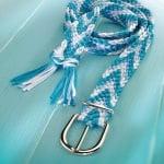 Сплетен шнур, сатен, 2 mm / 6 m, син