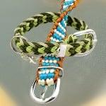 Сплетен шнур, сатен, 2 mm / 6 m,  тъмно зелен