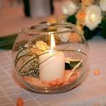 Стъклена купа за свещ, 14,5 х 13 cm, 1 бр., ръчна изработка