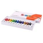 Комплект акрилни бои S+ART ACRYLIC, 7.5 ml, 12 цвята