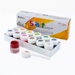 Комплект плакатни бои S+ART, 10 ml, 12 цвята