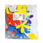 Комплект деко фигурки Цветчета от пеногума, 20 бр.