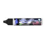 Текстилна боя Metallic Pen JAVANA, 29 ml, бяла